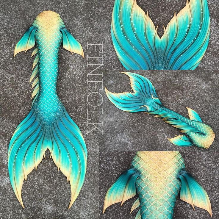 blue and gold mermaid tail