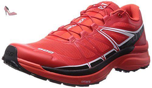 Salomon S-Lab Wings, Chaussures de Trail mixte adulte, Rouge (Racing Red/Black/White), 37 1/3 - Chaussures salomon (*Partner-Link)