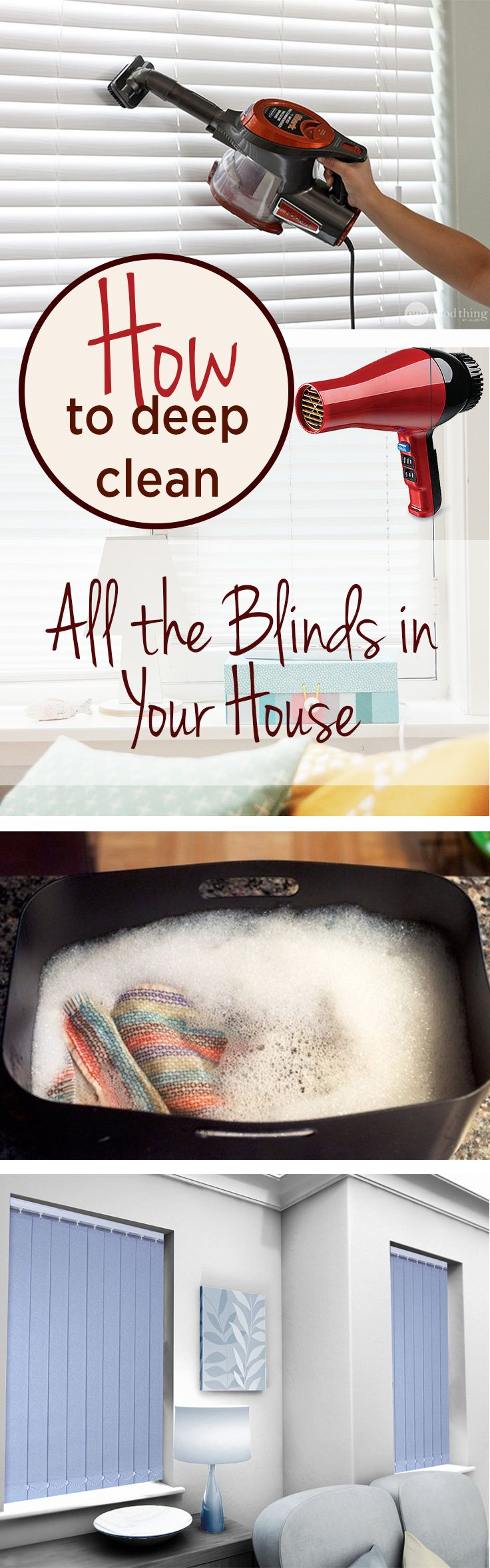 Deep clean, how to clean your blinds, clean your blinds, popular pin, bling…