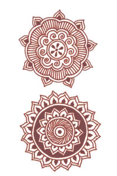Mehndi Tribal Tattoos - love the henna designs!
