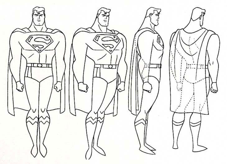 Reference Model Sheet of Batman