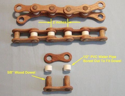 Ronald Walter's wooden chain drive experiments
