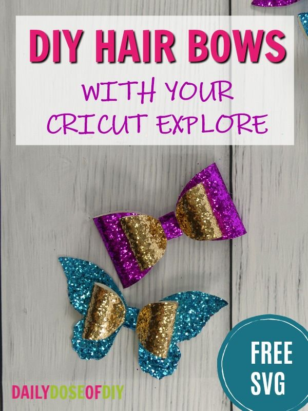 How To Make A Hair Bow With Your Cricut Free Bow Svg
