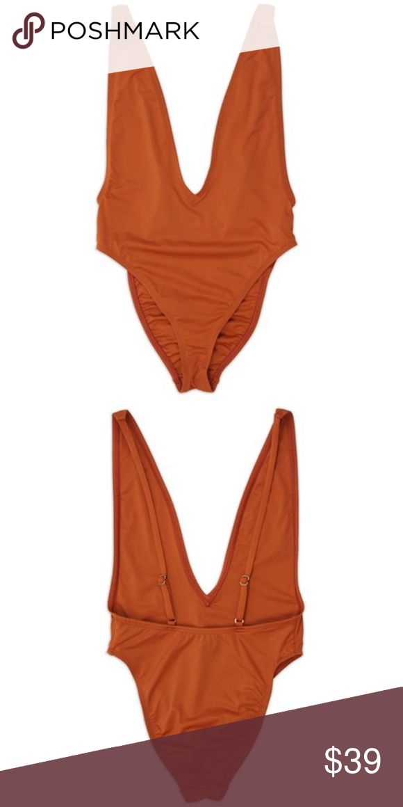 NEW Copper Ultra High Cut Swimsuit Talk about FIT! This ultra-high cut swimsuit fits like a glove! With adjustable spaghetti straps and a chic silhouette for your favorite getaway, you just can't say no to this one piece wonder.   Features low V-Neck, scoop back and high cut cheeky bottom.  Available Sizes: Small, Medium and Large.  Made in the USA  V neckline Spaghetti straps (adjustable) Silver hardware Ultra-high cut silhouette Open back One piece swim Stretchy Fabric: 80% nylon and 20%…