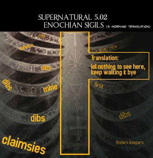 Enochian Sigils Castiel