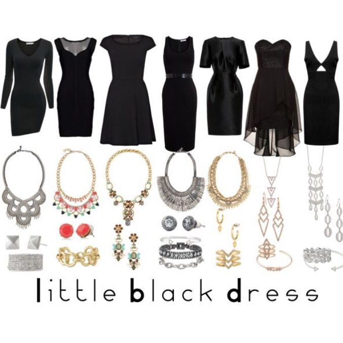21 best images about how to wear jewelry tips tricks on for Jewelry accessories for black dress