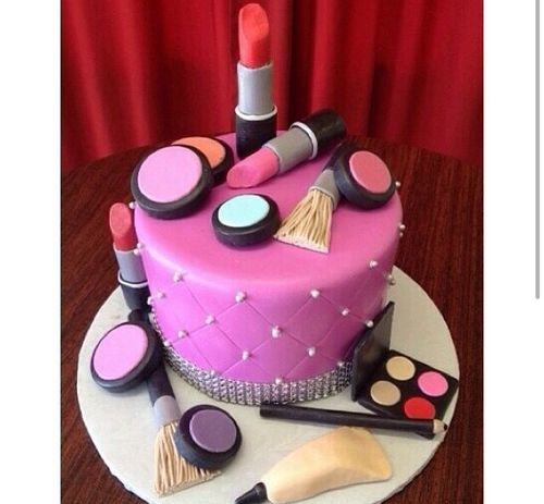 Most popular tags for this image include: cake, pink, food, makeup and mac
