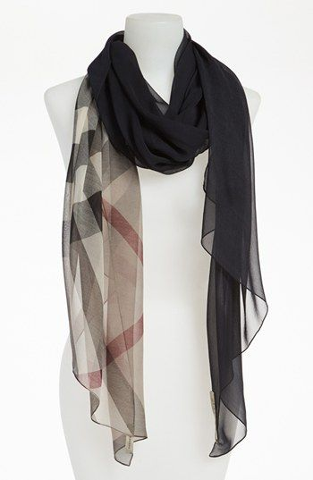 Burberry Ombré Check Silk Scarf available at #Nordstrom