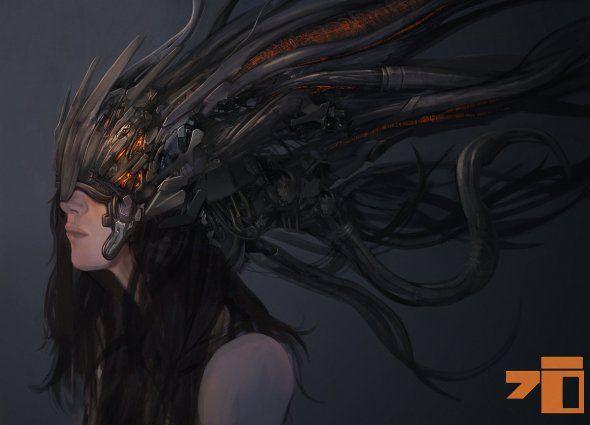 As sombrias ilustrações de ficção científica e fantasia de Kory Cromie