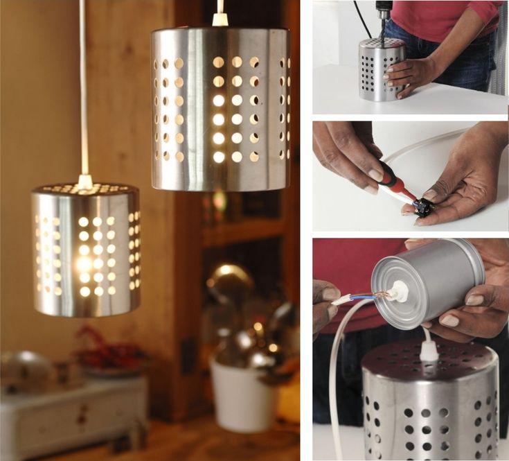 Créer une suspension avec des égouttoirs à vaisselle   DIY - Faites le vous-même avec Mr.Bricolage