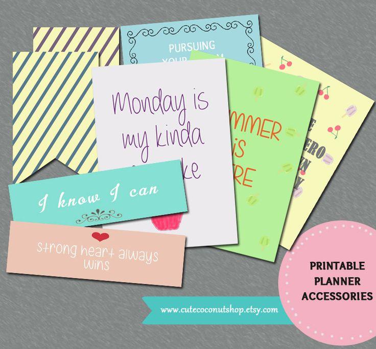 Printable Planner Accessories for Summer by CuteCoconutShop on Etsy