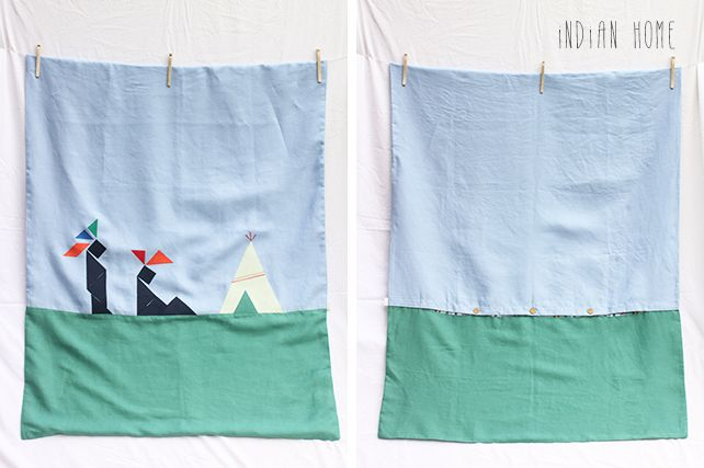 Indian Home Limited Edition Cot Duvet Cover by PINT SIZE GOODS (The Tangram Tribe Collection)
