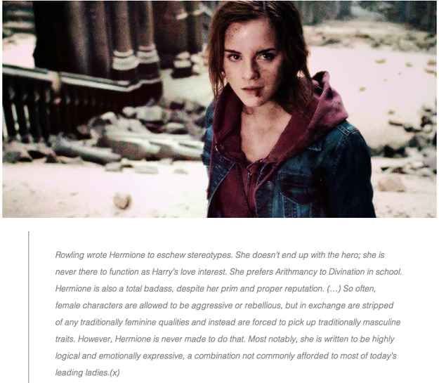 "When someone pointed out how badass Hermione and J.K. Rowling are. | 29 Times Tumblr Made ""Harry Potter"" Fans Cry All Over Again"