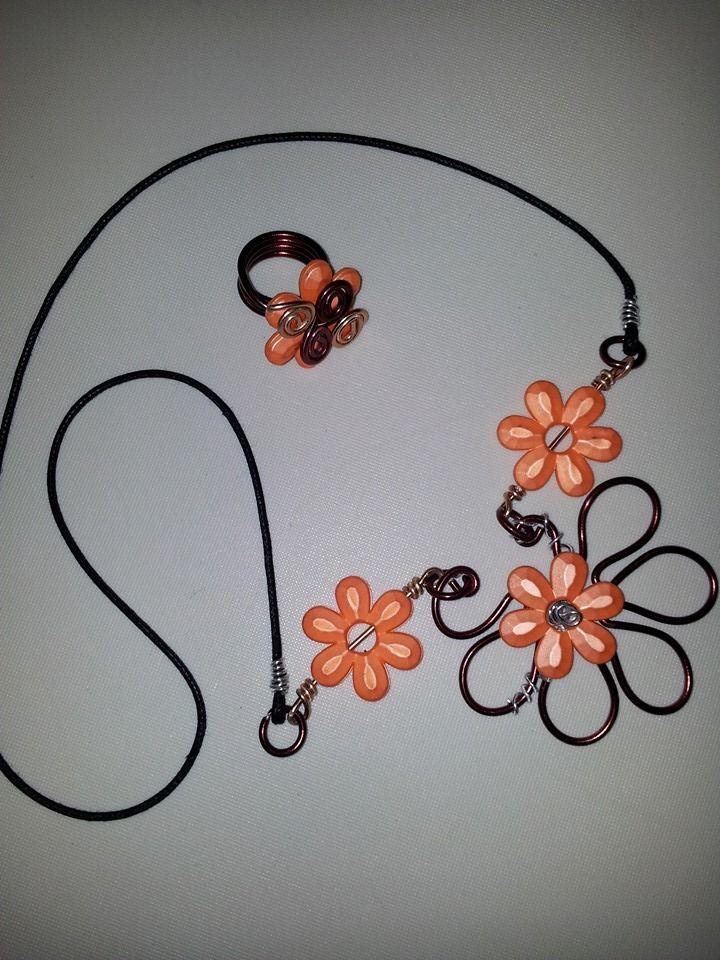 anello + collana fiore