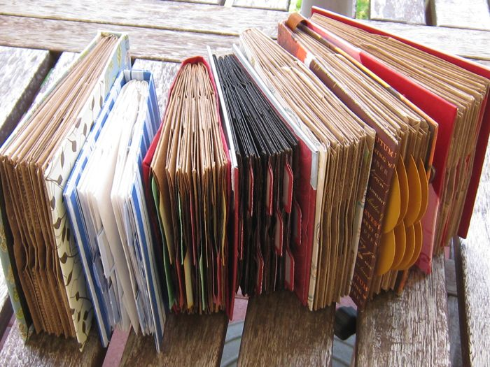 Book binding for paper bag books.