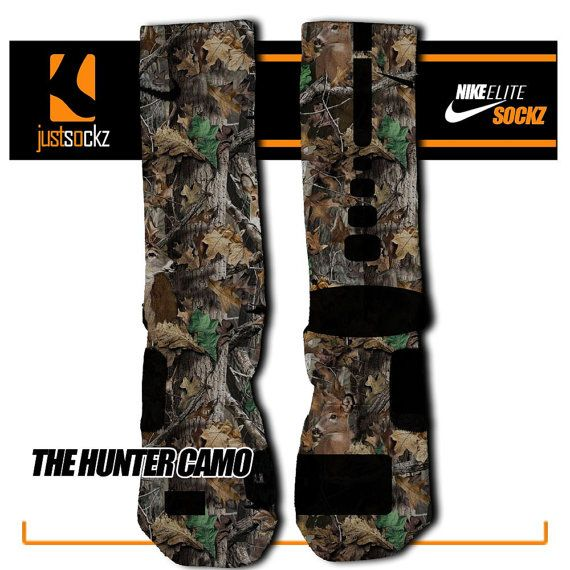 HUNTER CAMO Custom Nike Elite Socks hunting by FloccosTradingPost
