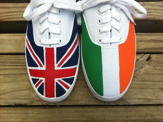 One Direction Flag Shoes: totally going to try this