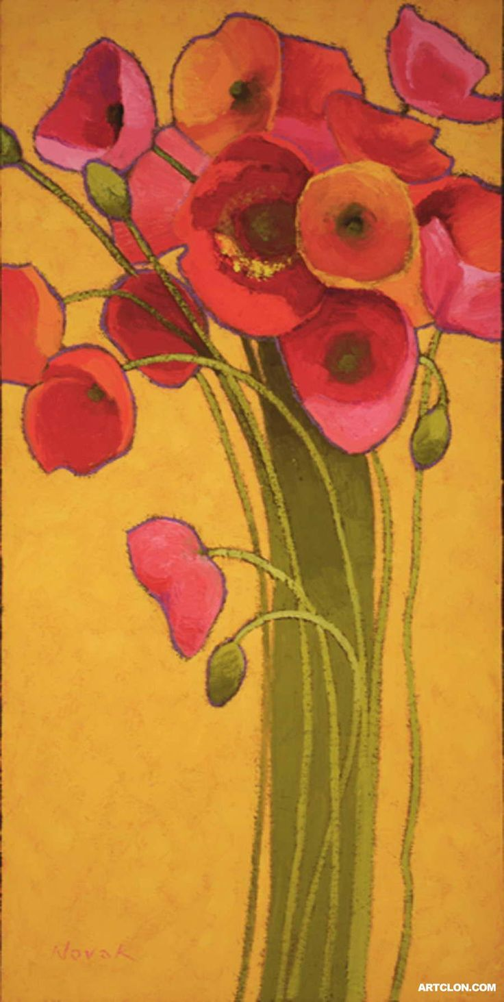 14 best Shirley Novak images on Pinterest | Poppies, Art floral and ...