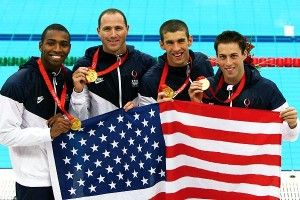 Men's 4x100 Relay at the Beijing Olympics in 2008.  I'll never forget Jason Lezak's amazing swim as anchor.