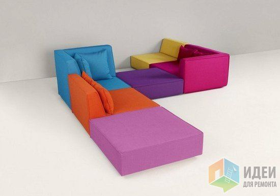 модульные диваны, яркие диваны для гостиной, Cubit