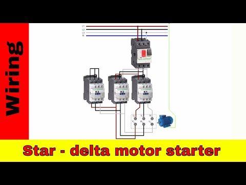 star delta control panel wiring diagram component mass spectrometer forward reverse motor reversing contactors youtube