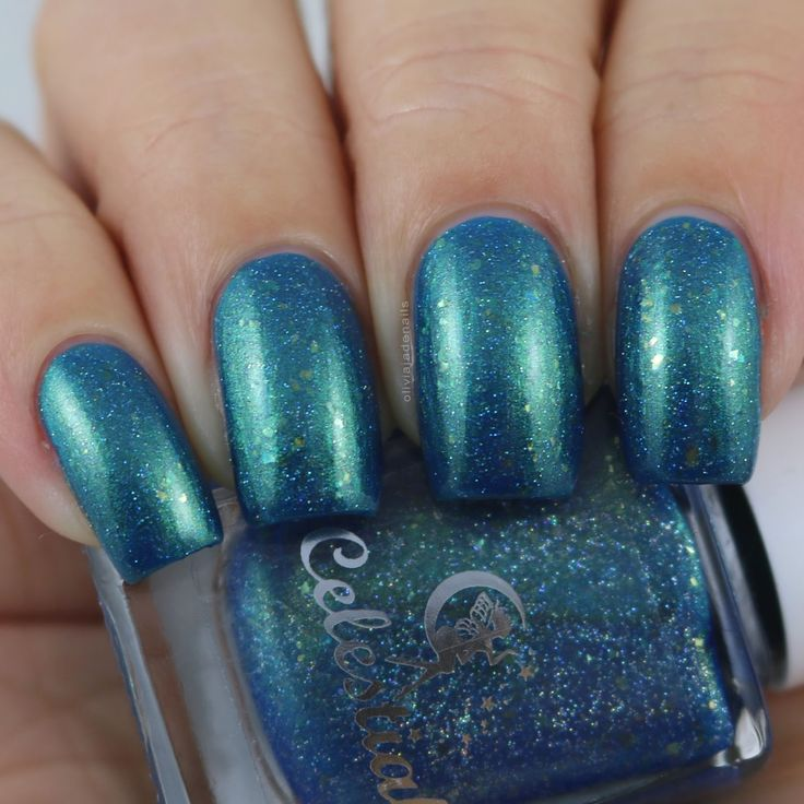 Celestial Cosmetics Cockle Bay swatched by Olivia Jade Nails