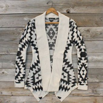 i love it.Fashion, Clothing Website, Black And White, Aztec Prints, Cozy Sweaters, Knits Sweaters, Tribal Prints, Sageland Sweaters, Dreams Closets