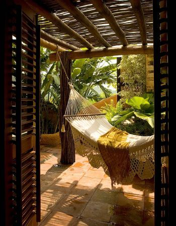 would love this in my backyard...I could sleep there in the summer!  Love, Love,Love being outside.