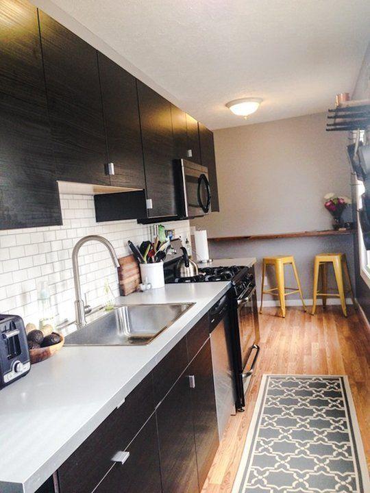 Small One Sided Galley Kitchen počet nápadov na tému ikea galley kitchen na pintereste: 17
