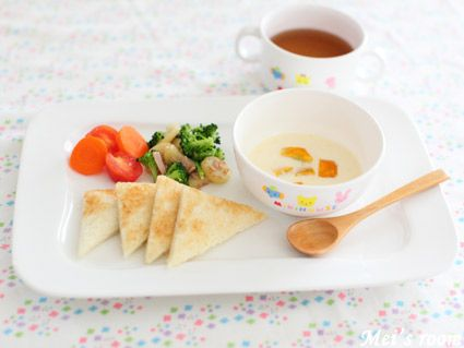 離乳食完了期 南瓜入りコーンスープ レシピ