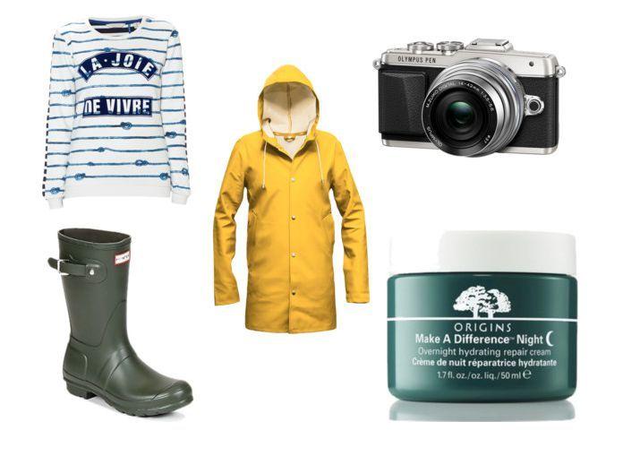 #maison scotch #stutterheim #olympus #hunterboots #originsskincare Saturdays Shoplist #8