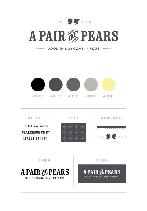 I love the logo, the lines, the two fonts mixed together. seems feminine and modern    A Pair of Pears: A Pair of Pears Branding