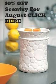 CLICK HERE for 10% off any scentsy products on our website for the whole of August - Remember to change the flag on the right hand side of our website for the country that you want to send Scentsy too