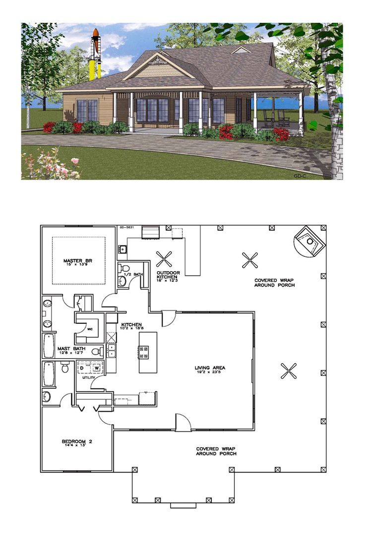 Ranch style house plans wrap porch raised simply elegant for Ranch house designs blog