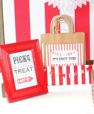 Printable carnival game signs (treat bags for their prizes instead of goodie bags...they write their name on it with markers & tote to each game)