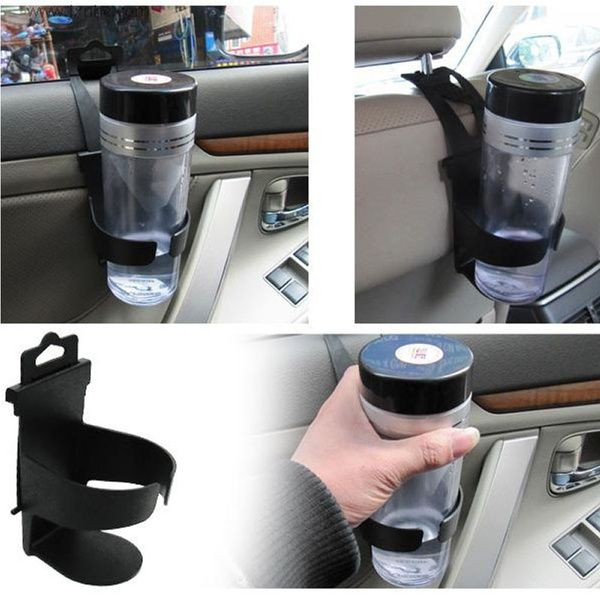 New Universal Vehicle Car Truck Mount Drink Bottle Dual Cup Holder Stand Black