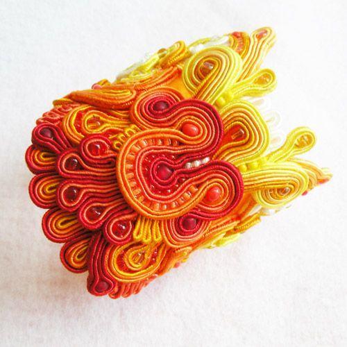 Bracelet by Alina Tyro-Niezgoda, Antidotum Designs, Made of Soutache, Glass, and Silver