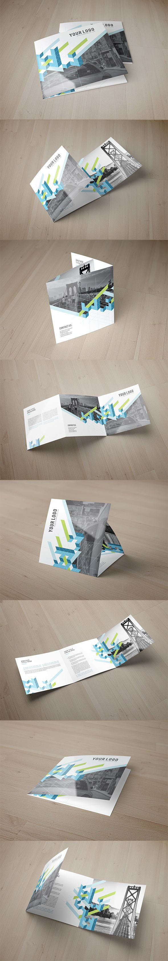 Square Modern Clean Trifold on Behance