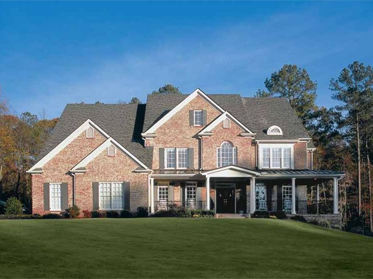Colonial Style 2 Story 5 Bedroomss House Plan With 4135 Total Square Feet