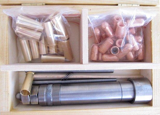 Caliber 7.5mm Nagant reloading kit and components