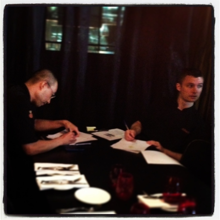 Chefs working hard on the menu