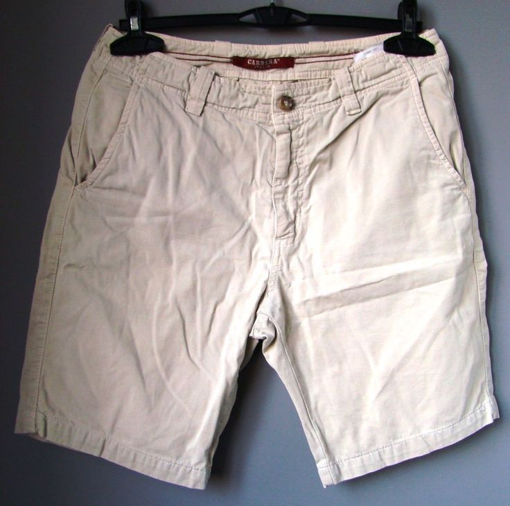 "JEANS PANTALONI corti uomo ""CARRERA"" trousers man beige BERMUDA SHORTS w 33 48"
