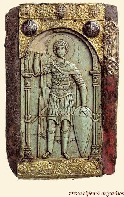 Άγιος Γεώργιος - 11ος αι. μ.Χ. - Mονή Bατοπαιδίου, Άγιον Όρος - Saint George - 11th century A.D. - Holy Monastery of Vatopedi pn Mount Athos #saint #george #vatopedi #monastery #mount #athos #mt #athos #agios #georgios #agio #oros #αγιος #γεωργιος #ιερα #μονη #βατοπεδιου #βατοπαιδι #αγιο #ορος #εργα τεχνης #εικονες #αγιογραφια #ορθοδοξια