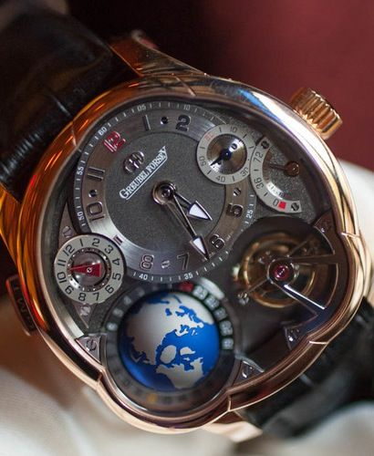 Greubel Forsey GMT. World time complication. Only $595,000 in rose or white gold.