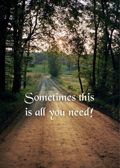 Windows down, music up, getting lost down back roads, breathing in the fresh country air.... <3