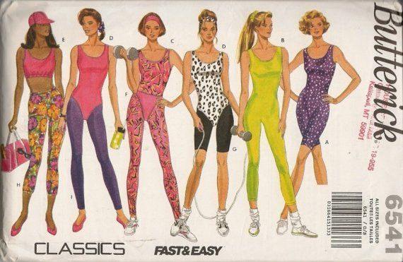 flashdance workout clothes pattern