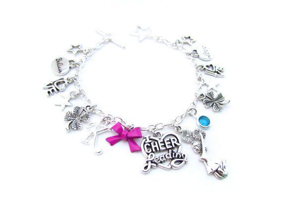 $19. Cheerleading Gifts, Cheerleader Gifts, Cheer Gifts, Cheerleading Charm Bracelet, Cheer Jewelry, Cheerleading Bracelet,Cheerleader Bracelet. #cheerleading #ad