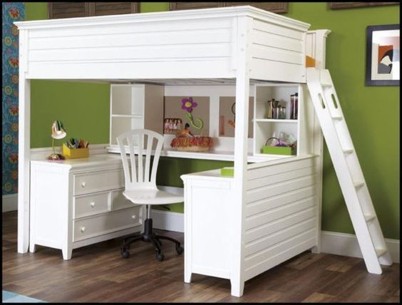 Bedroom:Full Size Loft Bed With Desk Also Shelves With Futon Chair And Underneath Plans Full Size Loft Bed With Desk For Sale