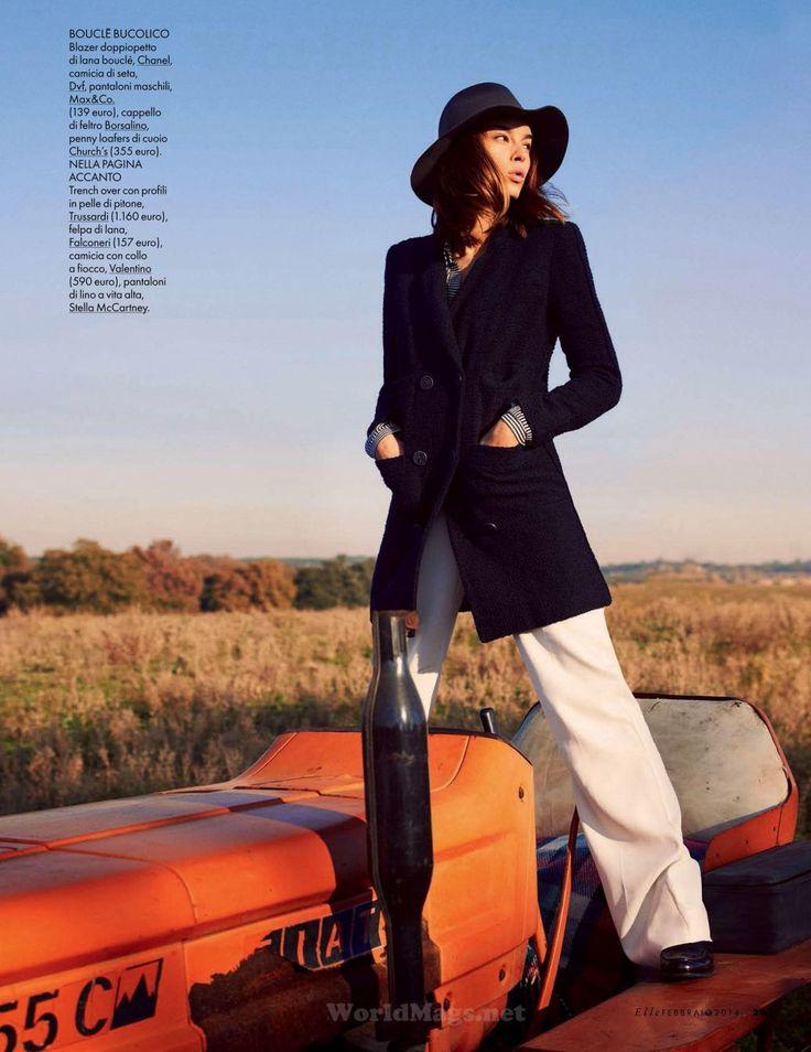 Elle Italia 2014 02 09 1 Elle Italia February 2014 |Kasia Smutniak by David Burton [Cover+Editorial]