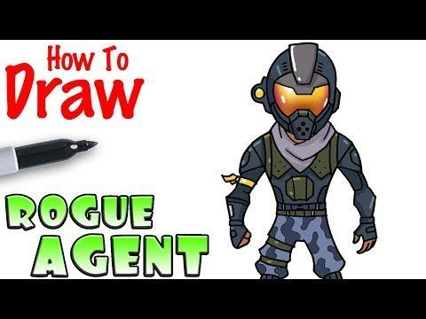 How To Draw The Rogue Agent Fortnite Youtube Drawing Time In
